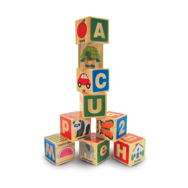 Melissa & Doug ABC 123 Wooden Blocks