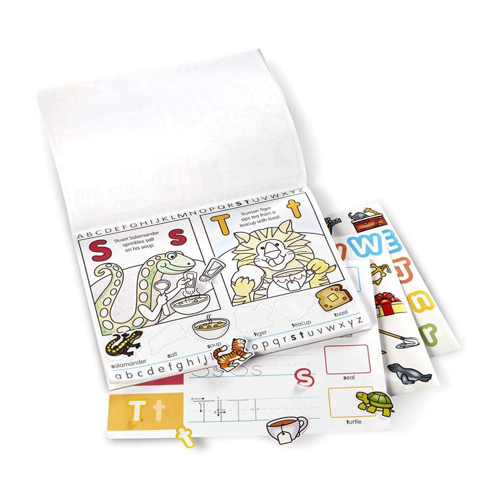 Melissa & Doug Alphabet Activity Sticker Pad for Colouring