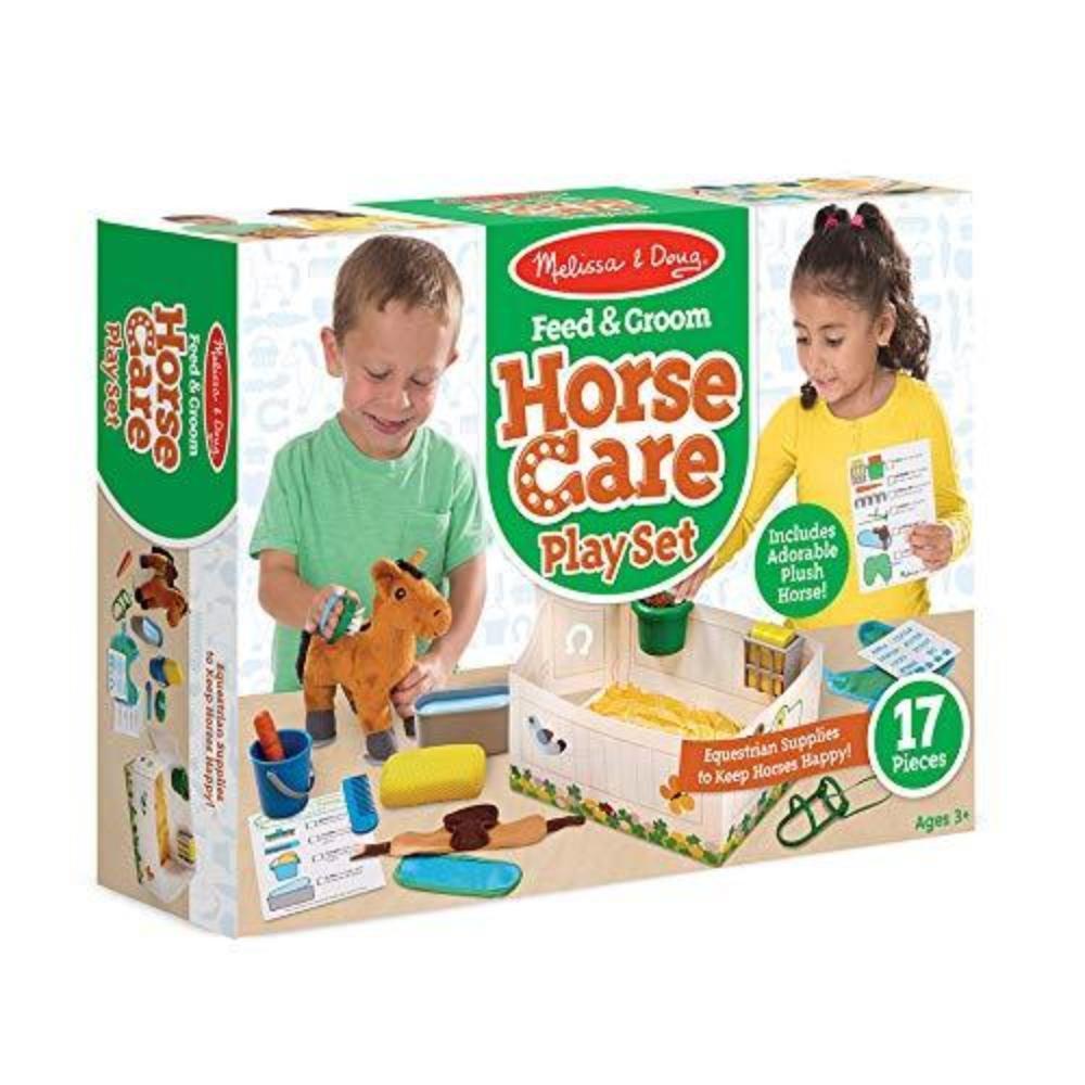 Melissa & Doug Feed & Groom Horse Care