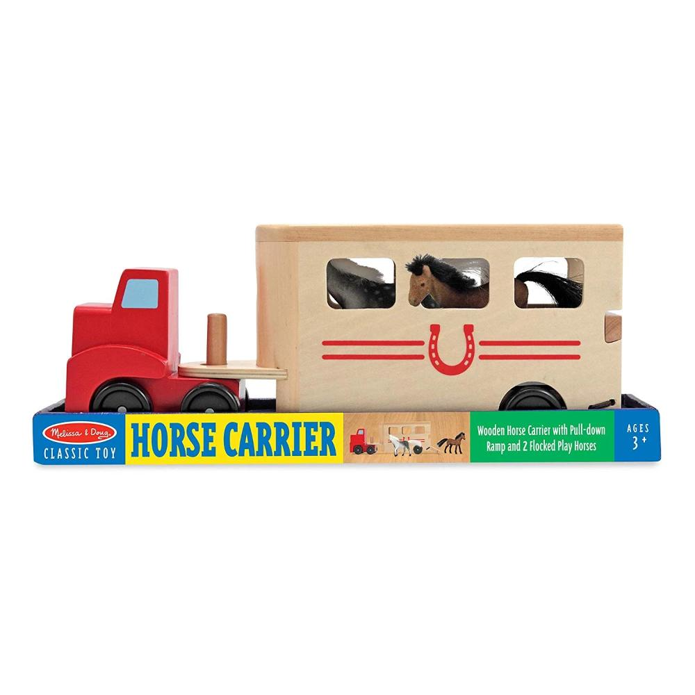 Melissa & Doug Horse Carrier Wooden Vehicles Play Set