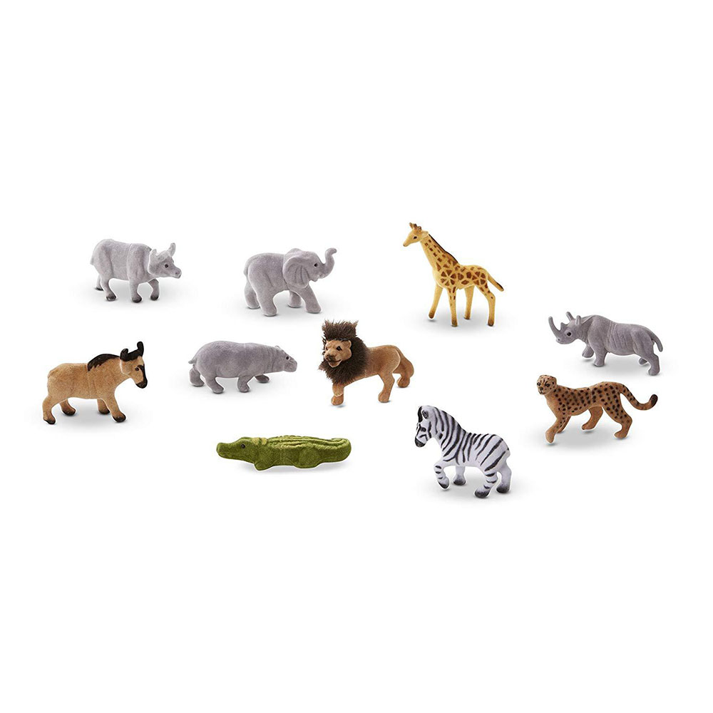 Melissa & Doug Wild Animals 10 Collectible Animals