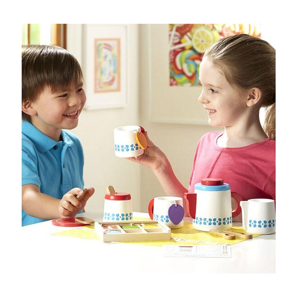 Melissa & Doug Wooden Steep & Serve Tea Set1