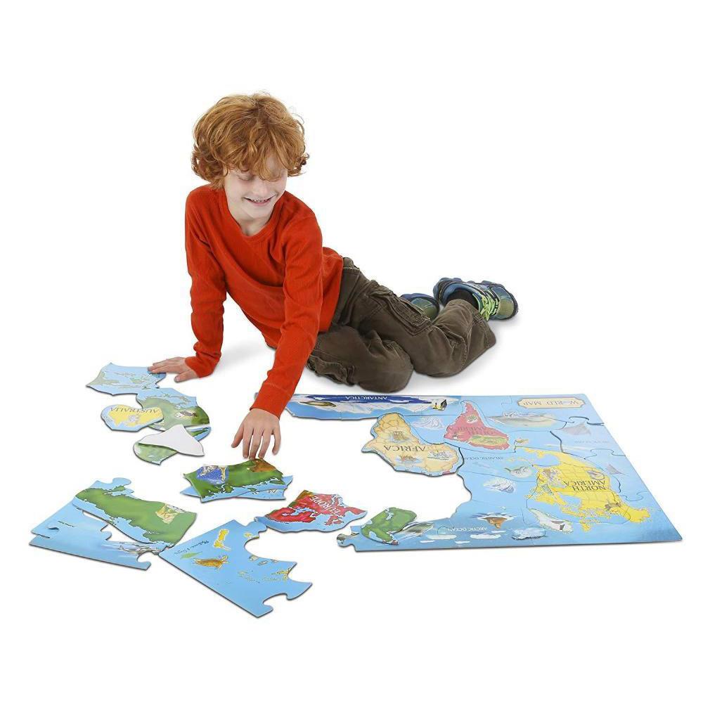 Melissa & Doug World Map Floor Puzzle (33 pc)