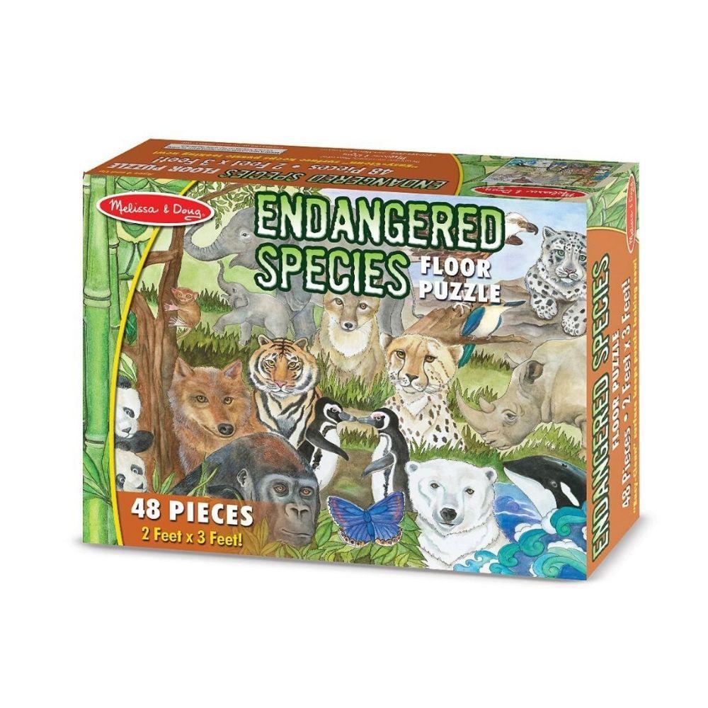 Melissa & Doug Endangered Species Floor Puzzle (48 pc)