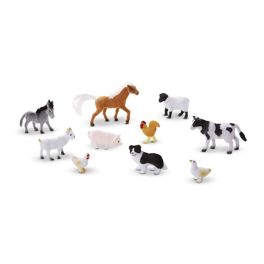 Melissa & Doug Farm Friends 10 Collectible Farm Animals