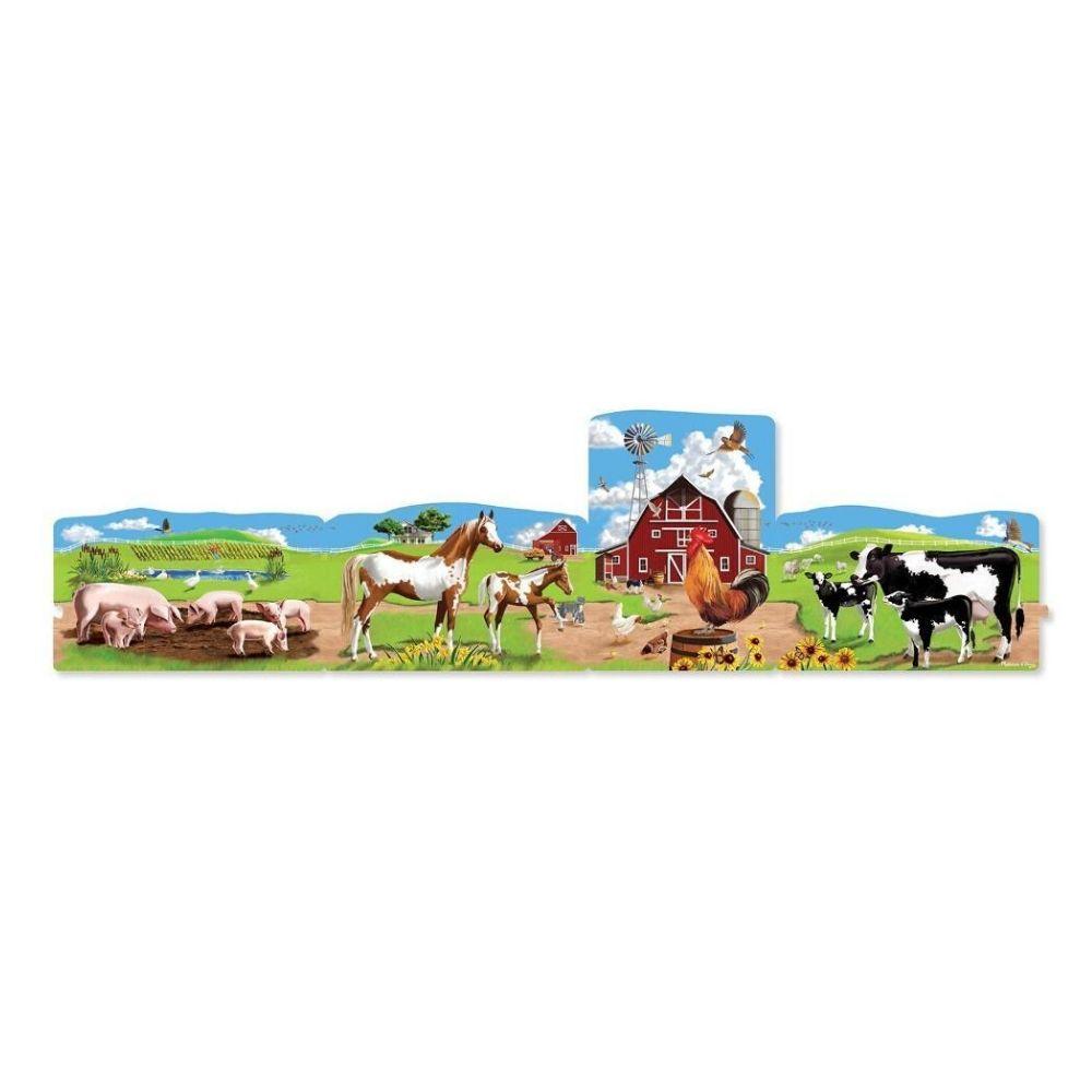 Melissa & Doug Farm Linking Floor Puzzle (96 pc)