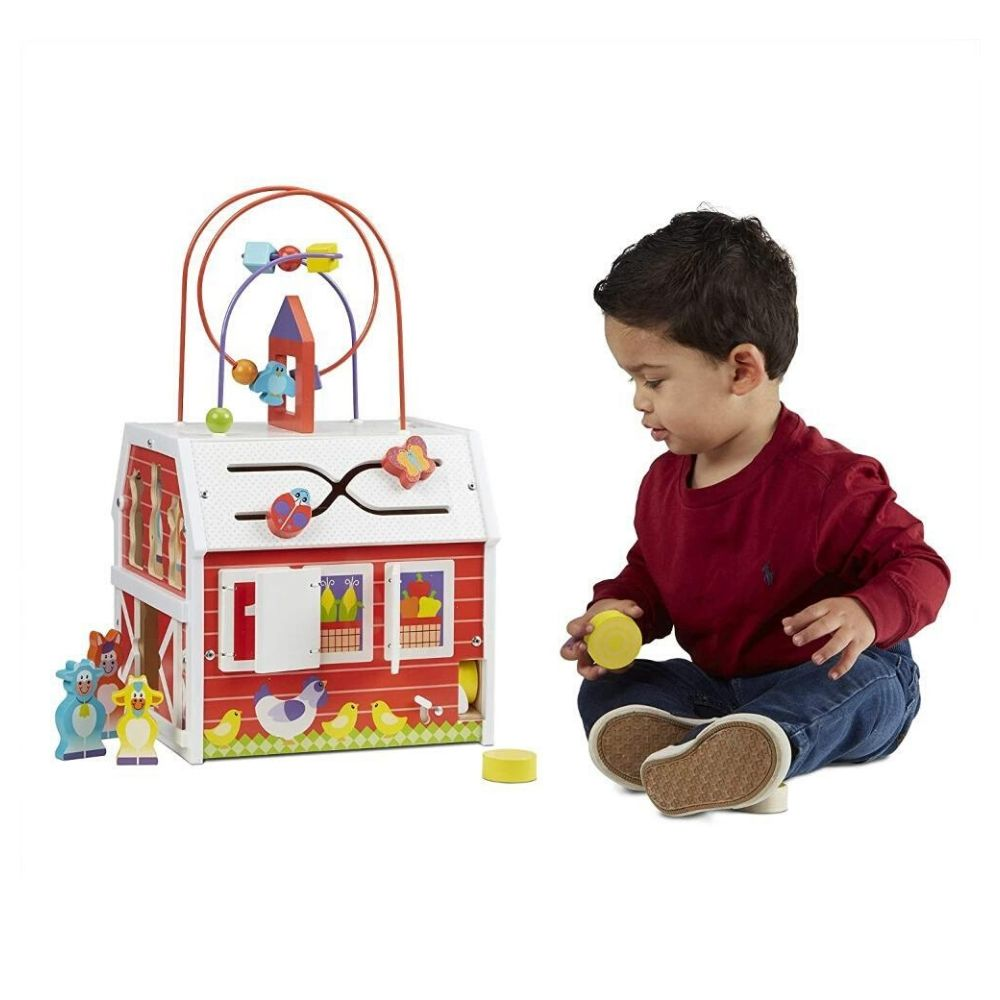 Melissa & Doug First Play Slide, Sort & Roll Activity Barn