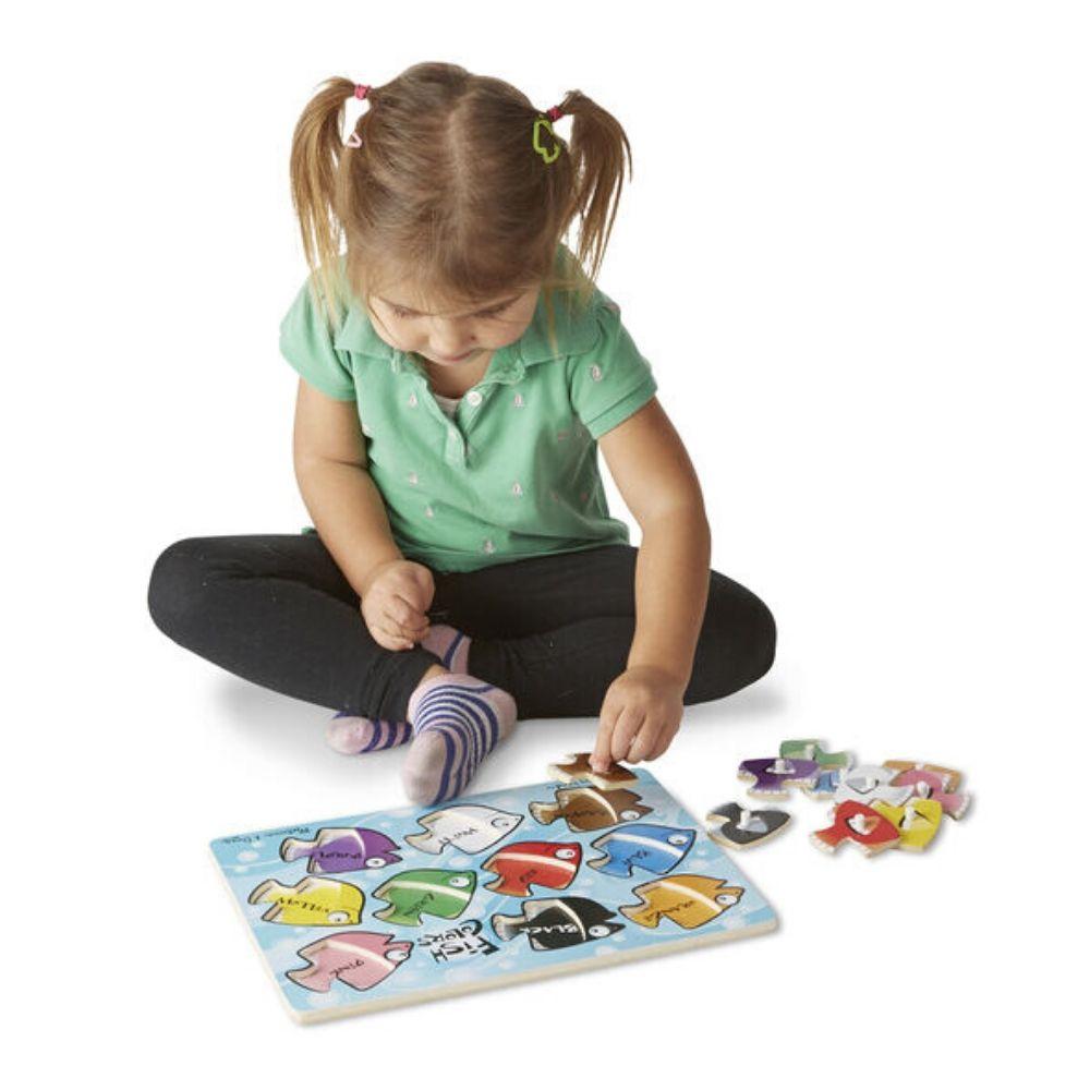 Melissa & Doug Fish Colors Mix 'n Match Peg Puzzle - 10 pieces