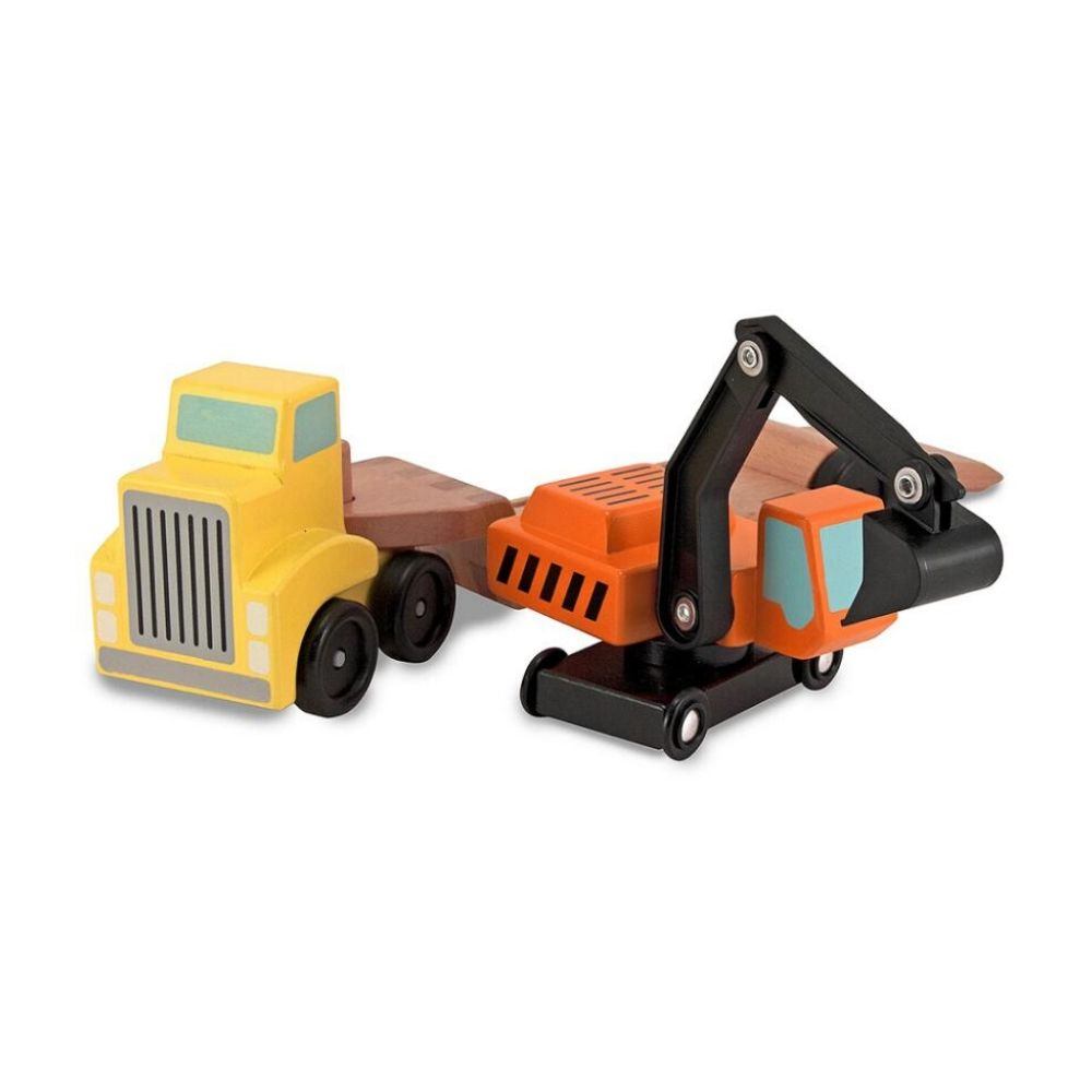 Melissa & Doug Flatbed Trailer with Excavator