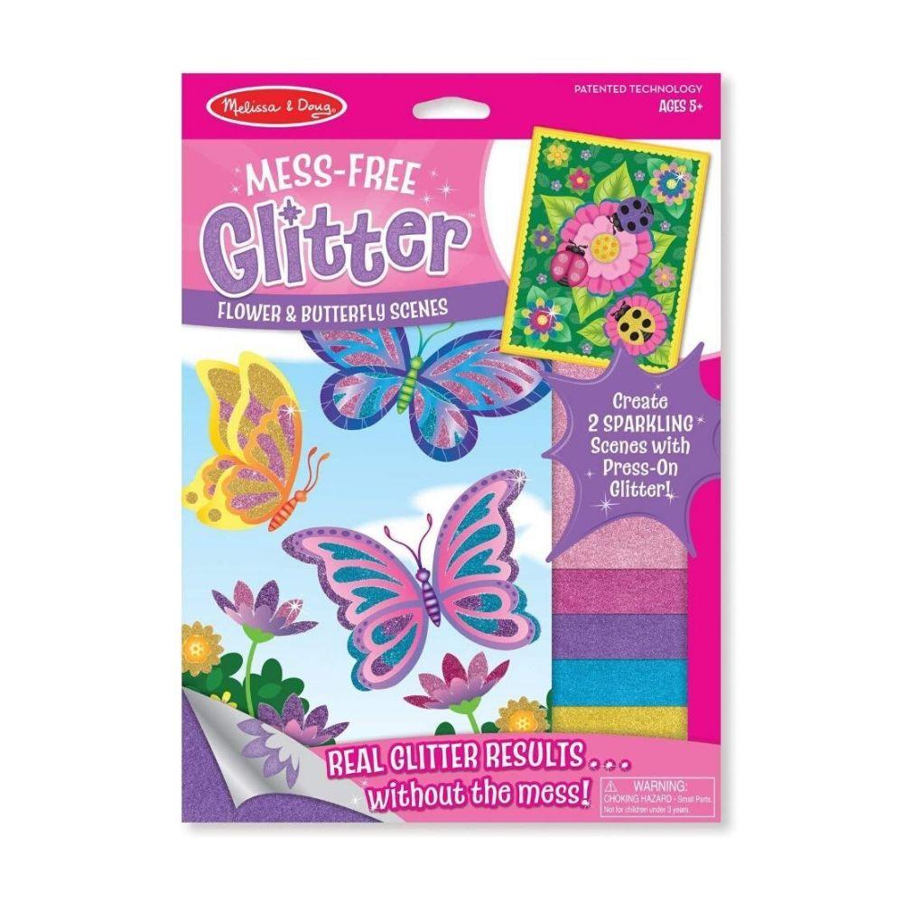 Melissa & Doug Flower & Butterfly Scenes - Mess Free Glitter