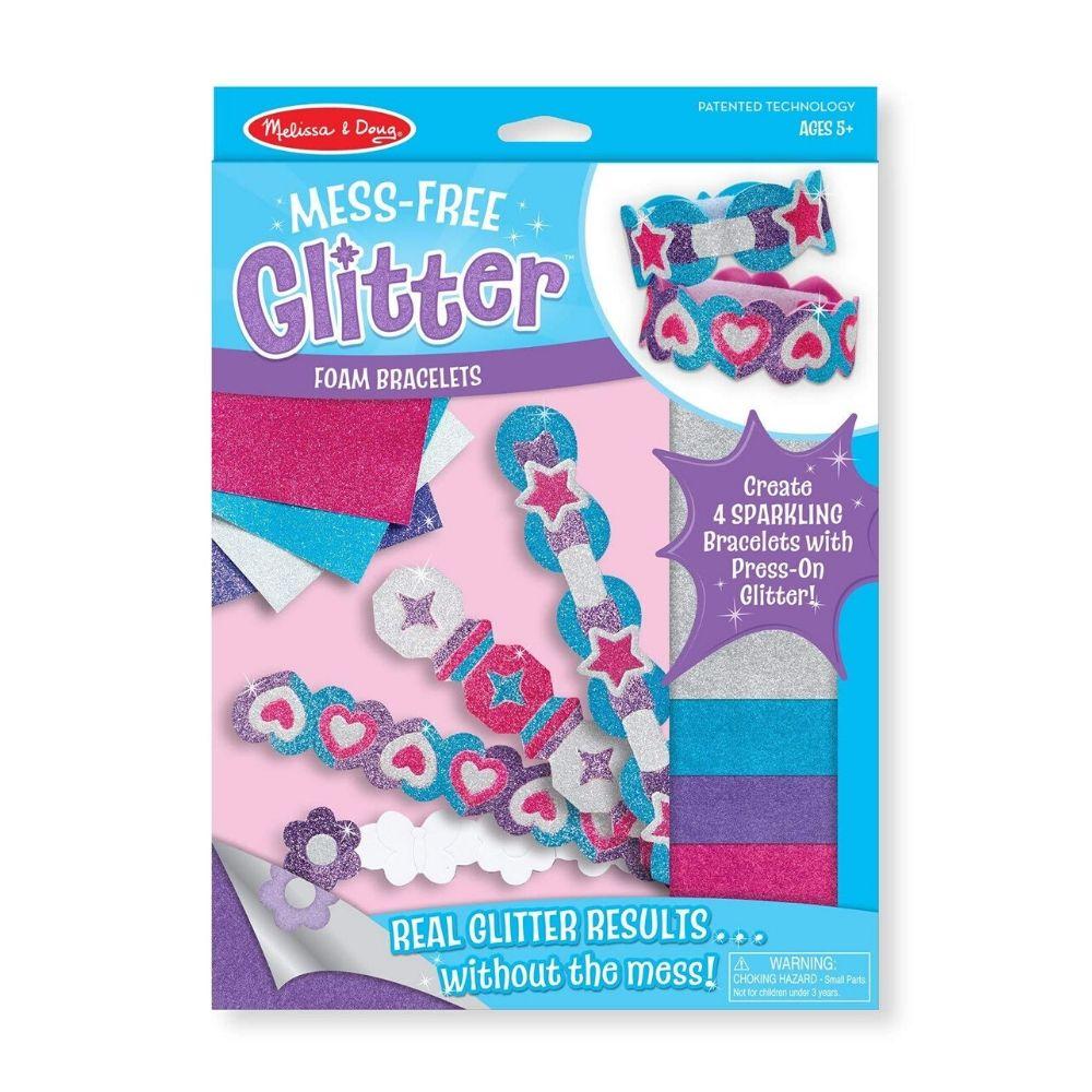 Melissa & Doug Foam Bracelets - Mess Free Glitter