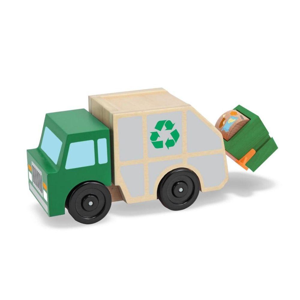 Melissa & Doug Garbage Truck Wooden Vehicle