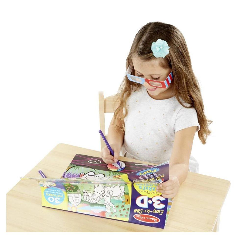 Melissa & Doug Girl 3D Colouring In Book