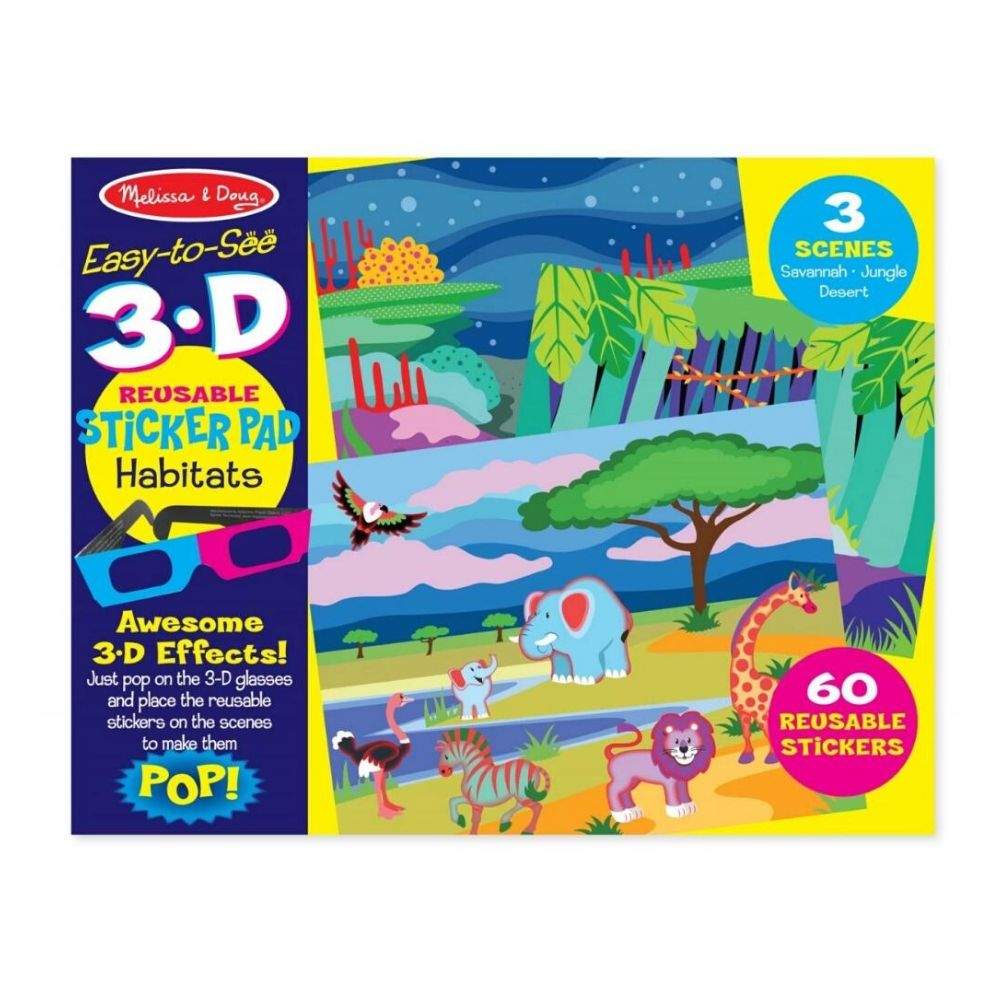 Melissa & Doug Habitats 3D Reusable Sticker Pad