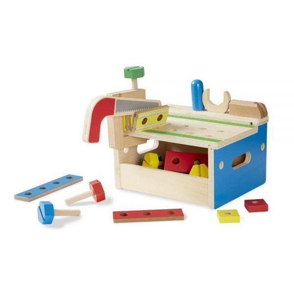 Melissa & Doug Hammer and Saw Tool Bench - Wooden Building Set