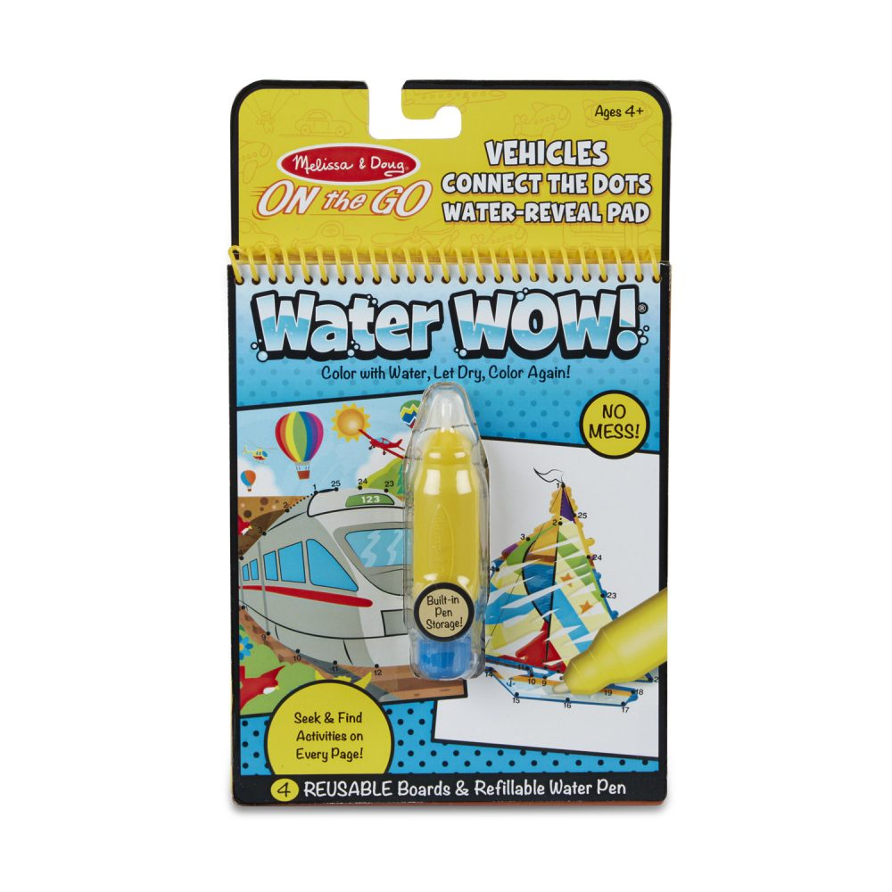 Melissa & Doug Water Wow Connect the Dots - Vehicles
