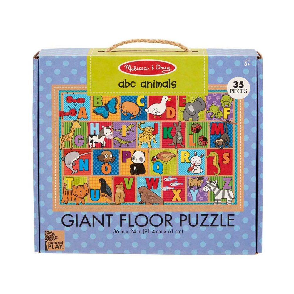 Melissa & Doug Natural Play Floor Puzzle - ABC Animals