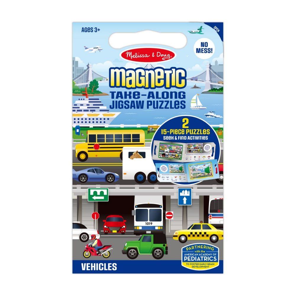 Melissa & Doug Take Along Magnetic Jigsaw Puzzles - Vehicles