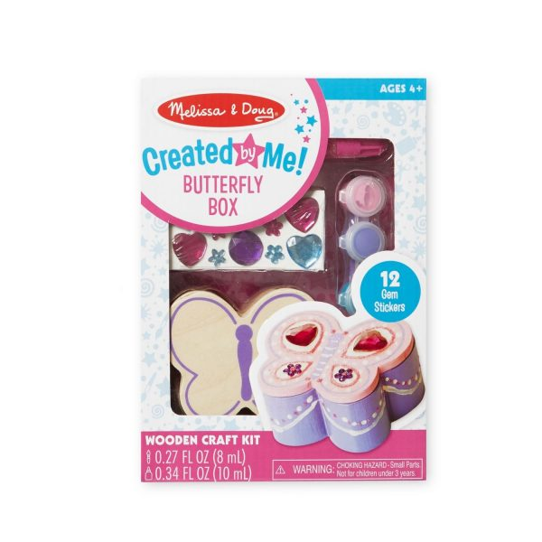 Melissa & Doug Created by Me! Butterfly Box Wooden Craft Kit