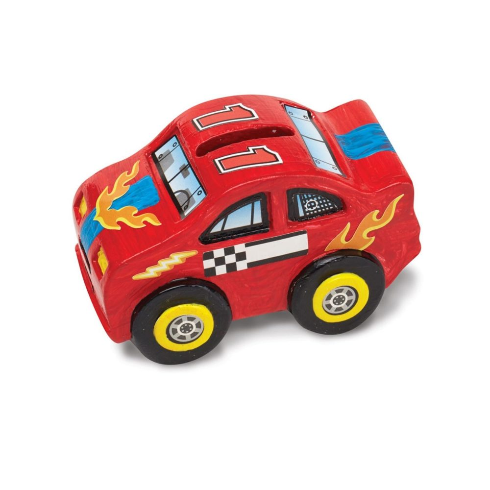 Melissa & Doug Created by Me! Race Car Bank DYO
