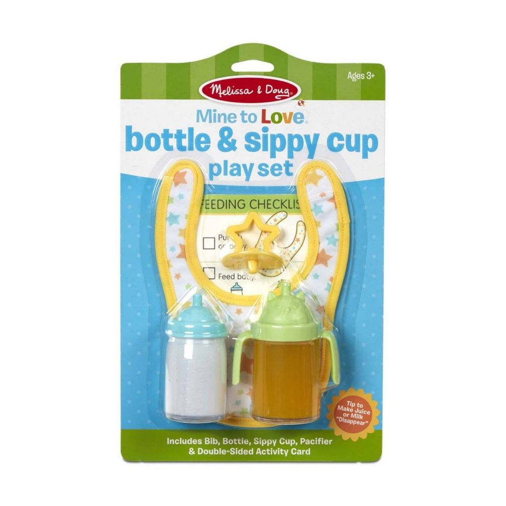 Melissa & Doug Mine to Love - Bottle & Sippy Cup Play Set (2)