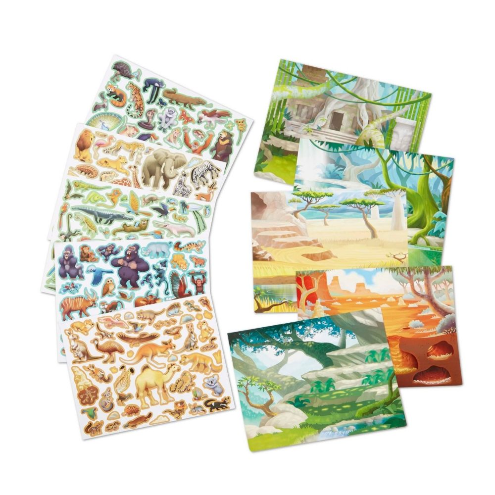 Melissa & Doug Reusable Sticker Pad - Jungle and Savanna