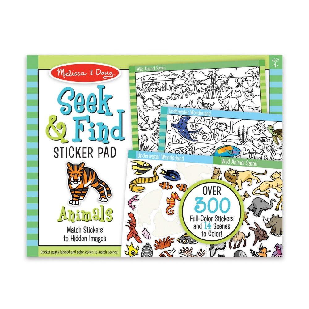 Melissa & Doug Seek & Find Sticker Pad - Animal