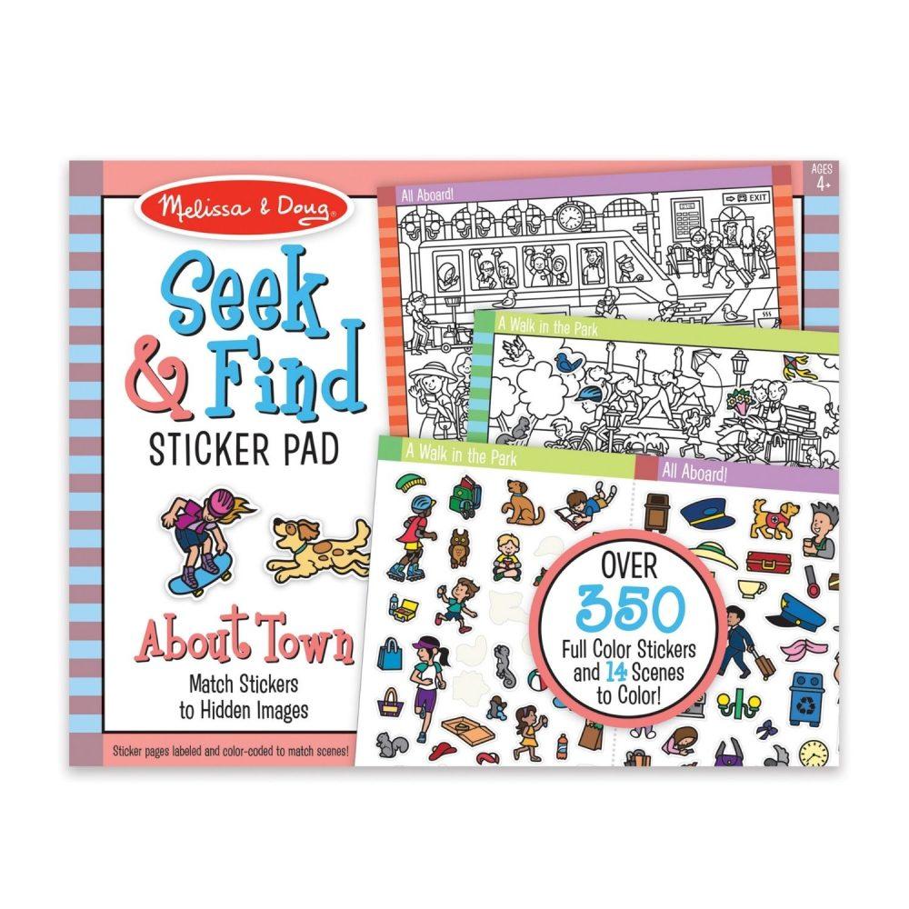 Melissa & Doug Seek & Find Sticker Pad - Around Town