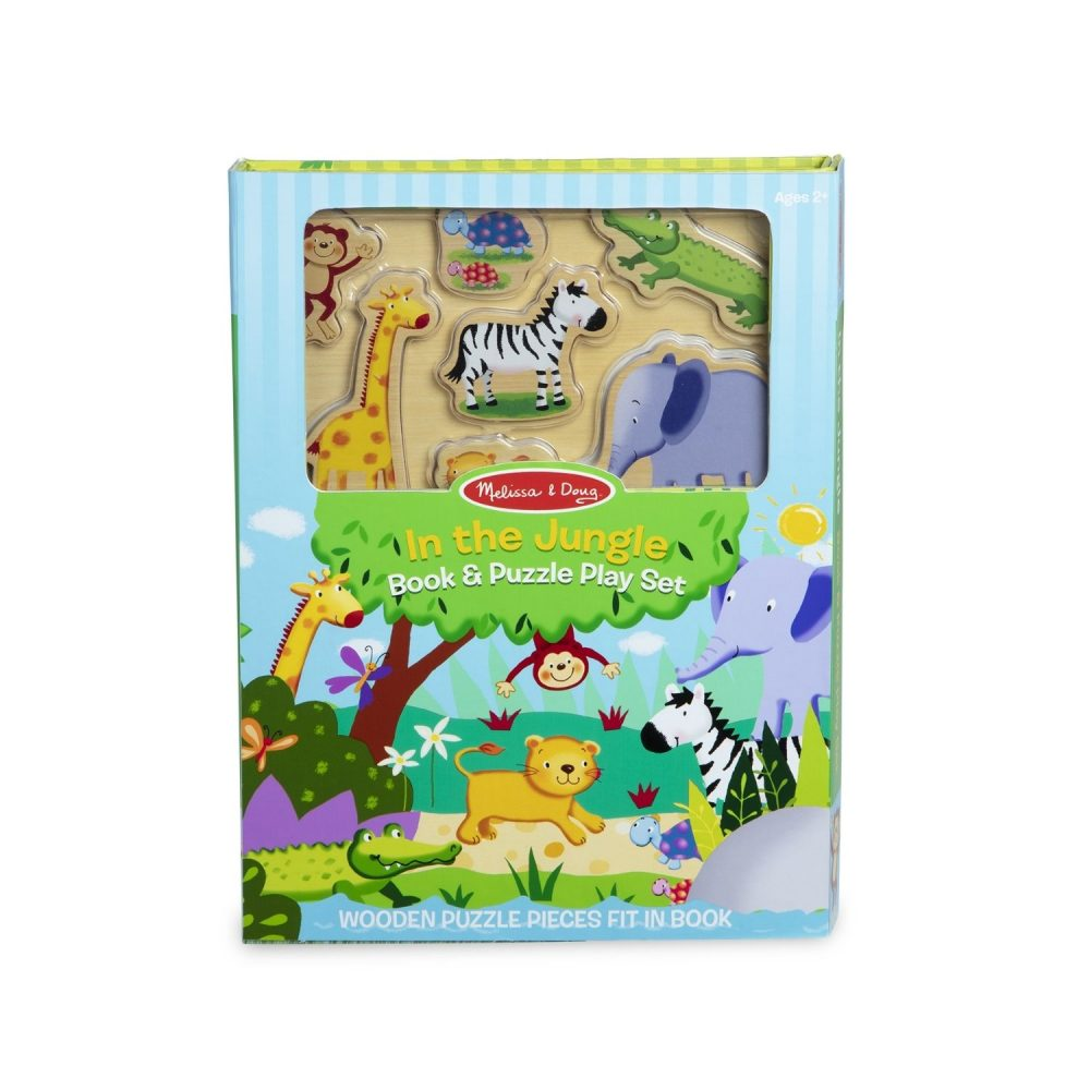Melissa & Doug Book & Puzzle Play Set In the Jungle (1)