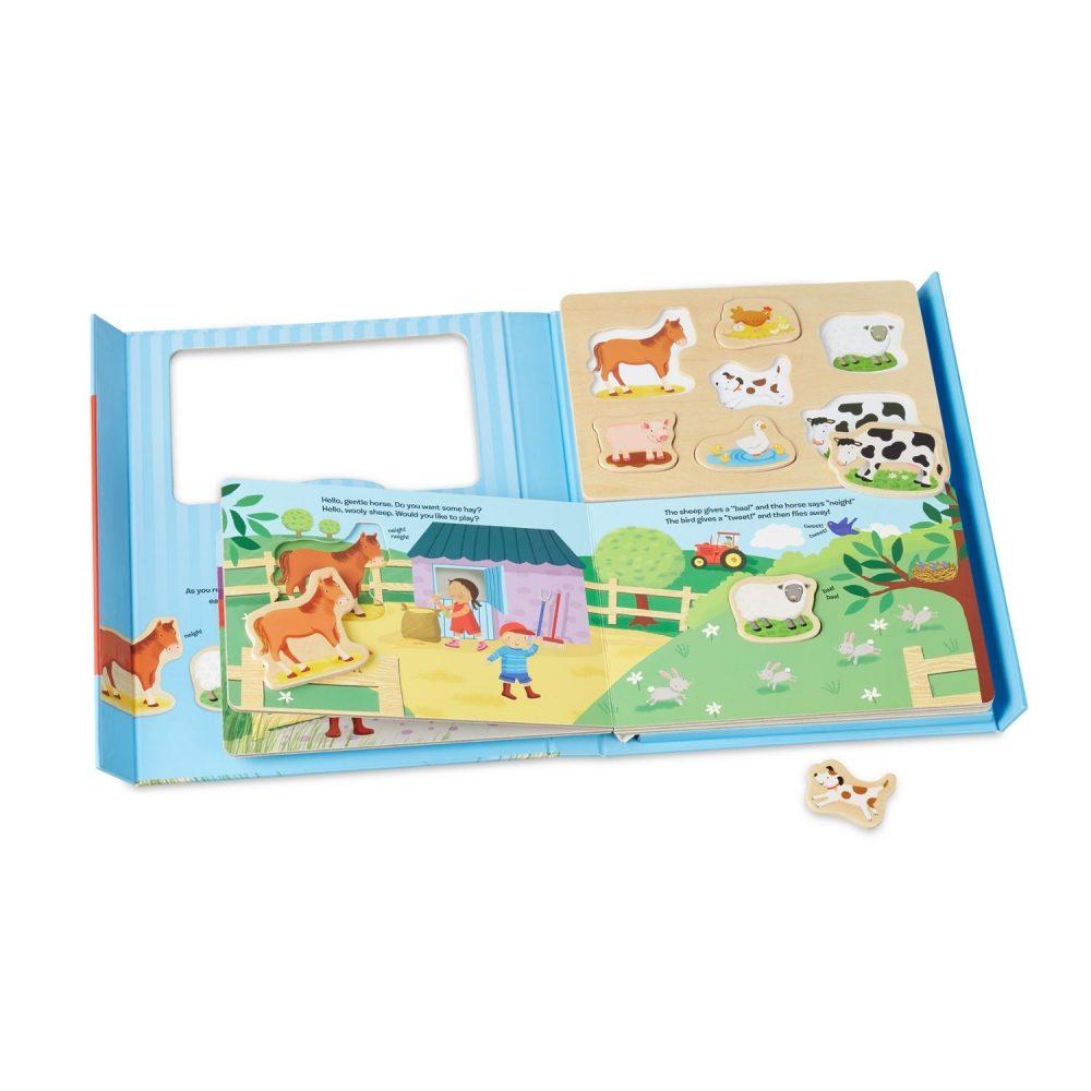 Melissa & Doug Book & Puzzle Play Set On the Farm (1)