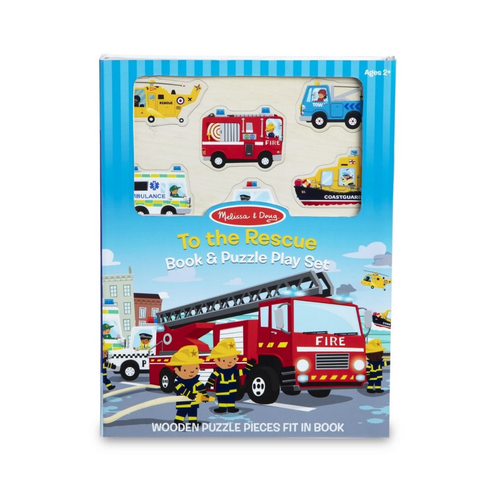 Melissa & Doug Book & Puzzle Play Set To the Rescue (1)
